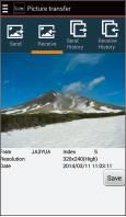 amateurfunk_mobilfunkgeraet_ID-4100E_sending_picture